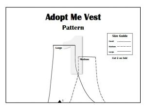Free PDF Adopt Me Vest Sewing Pattern! +My Favorite Non