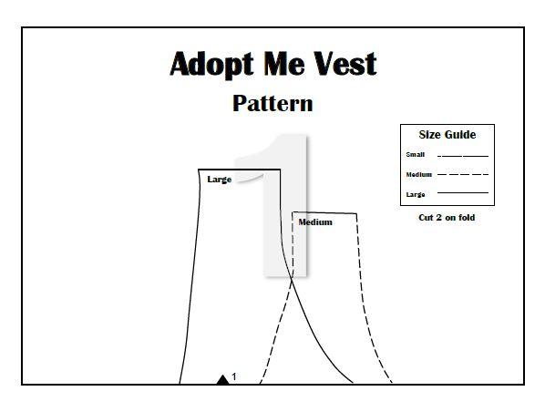 Free PDF Adopt Me Vest Sewing Pattern! +My Favorite Non-Profit Orgs ...