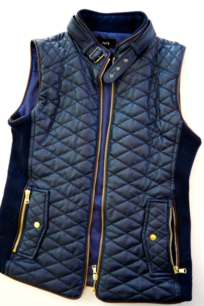 Stitch Fix Fate Rowen Faux Leather Quilted Vest | Life by Ky Blog
