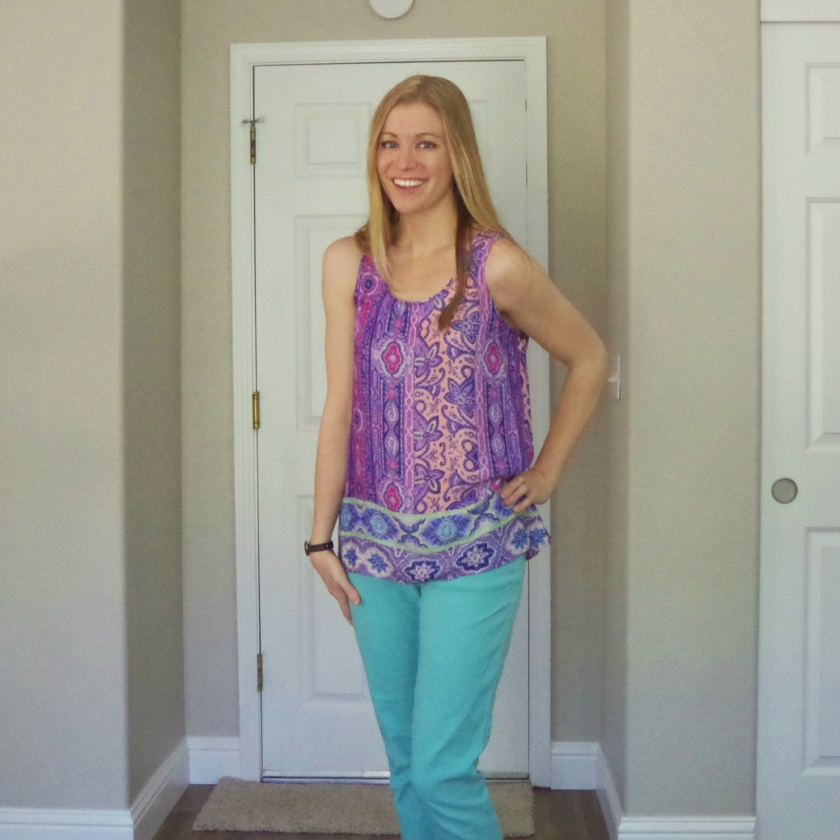 Stitch Fix Fun2Fun Clarise Mixed Print Tank | Life By Ky Blog