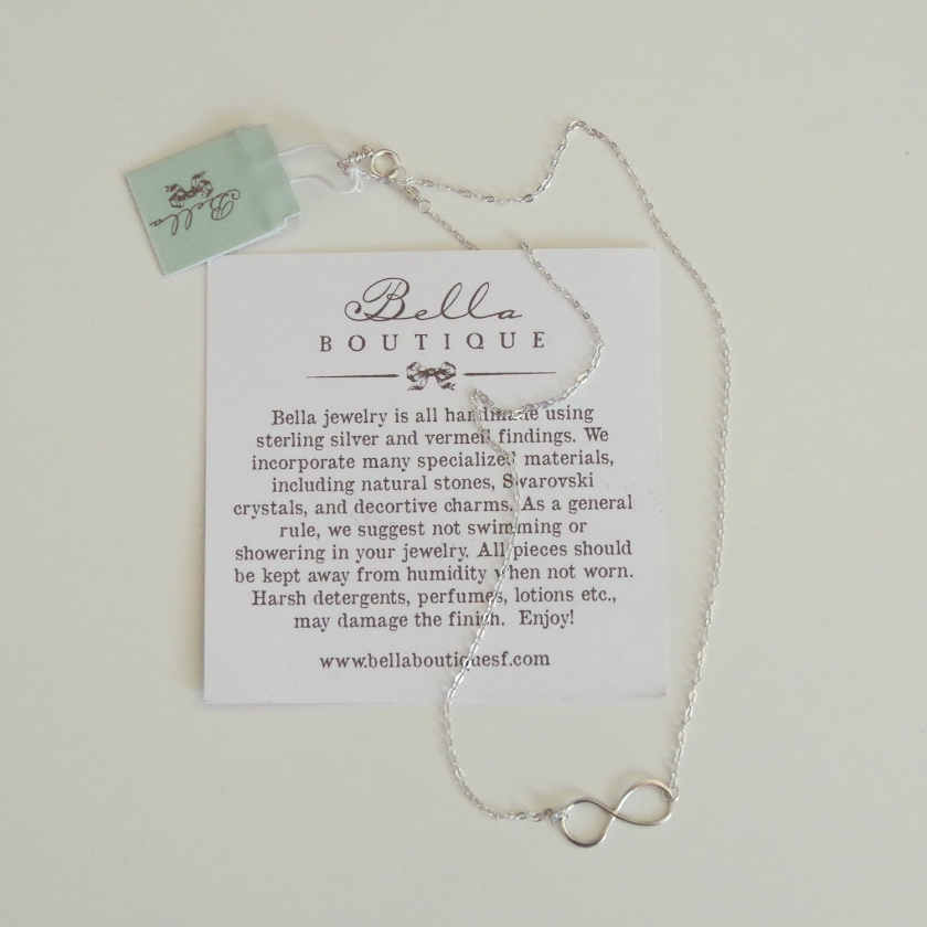 Stitch Fix Bella Boutique Bilson Silver Infinity Necklace | Life by Ky Blog