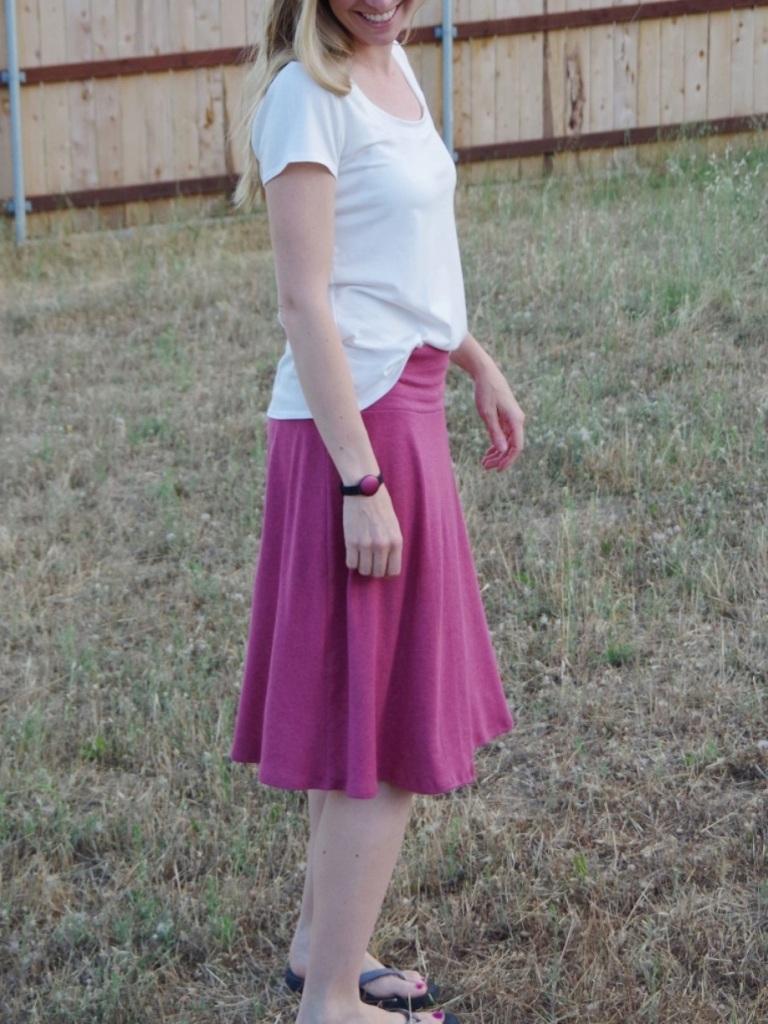 Plantain Tee & Syrah Skirt | Life by Ky Blog