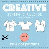 Blue Dot Patterns Creative Sewing Challenge 2015