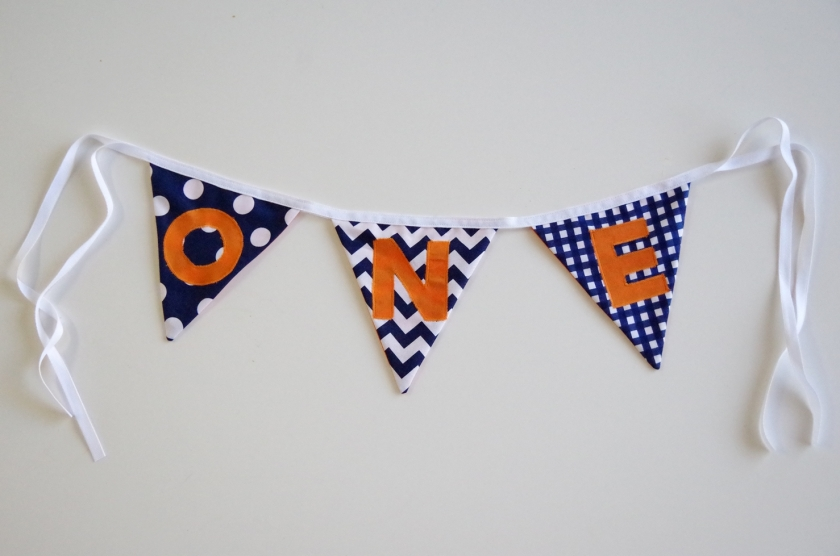 One Year Fabric Bunting | Life by Ky Blog