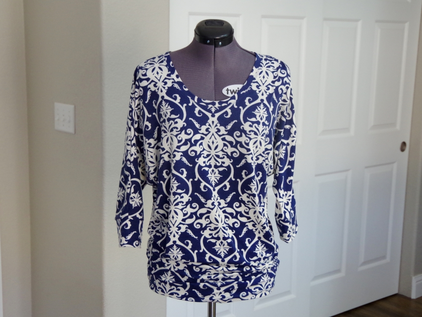 Blue Dot Patterns Georgia Top | Life by Ky Blog