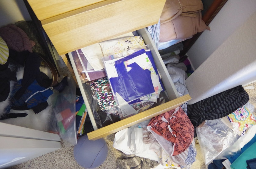 Messy Sewing Room | Life by Ky Blog