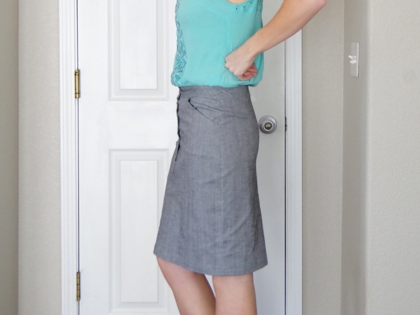 Button Up Pencil Skirt | Life by Ky Blog