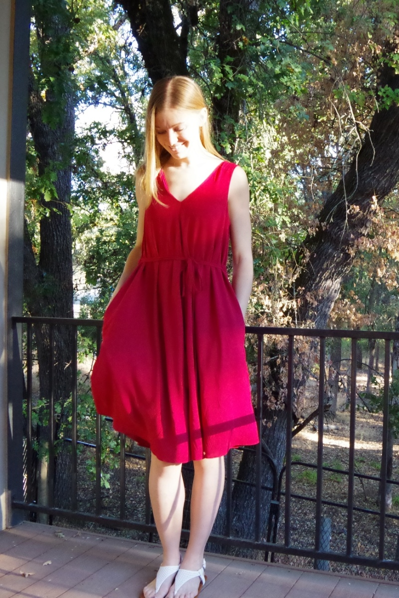 October Blog Traffic and a Papercut Patterns Sway Dress