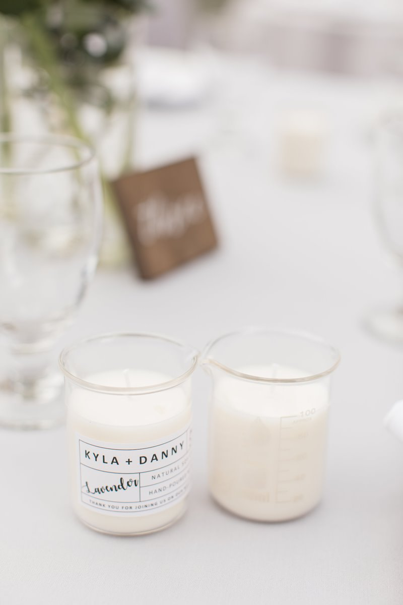 DIY Beaker Candle Wedding Favors | Life by Ky Blog