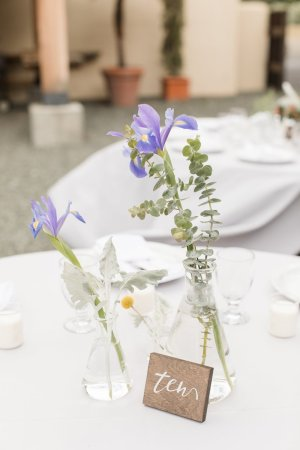 Beaker and Erlenmeyer Flask Wedding Centerpieces | Life by Ky Blog