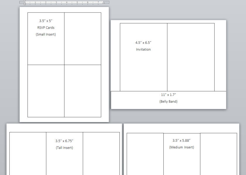 A7 Invite & Insert Size Layout Printable | Life by Ky Blog