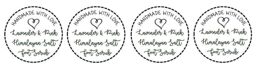 Lavender Foot Scrub Labels | Life by Ky Blog
