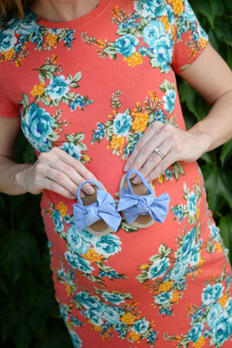 Maternity Panama Tee Dress + A Little Birth Story